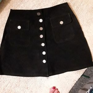 Genuine handmade suede skirt